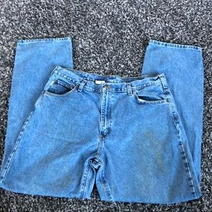 Carhartt work jeans.  Loose fit. 40x 36